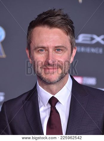 LOS ANGELES - JAN 29:  Chris Hardwick arrives for the 'Black Panther' World Premiere on January 29, 2018 in Hollywood, CA