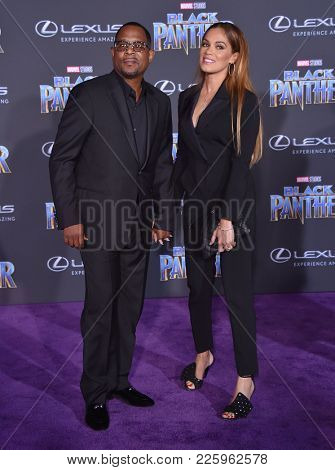 LOS ANGELES - JAN 29:  Martin Lawrence and Shamicka Gibbs arrives for the 'Black Panther' World Premiere on January 29, 2018 in Hollywood, CA