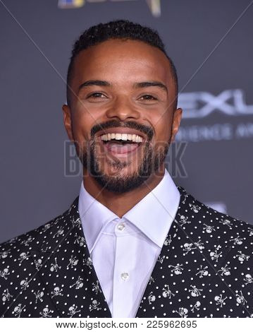 LOS ANGELES - JAN 29:  Eka Darville arrives for the 'Black Panther' World Premiere on January 29, 2018 in Hollywood, CA