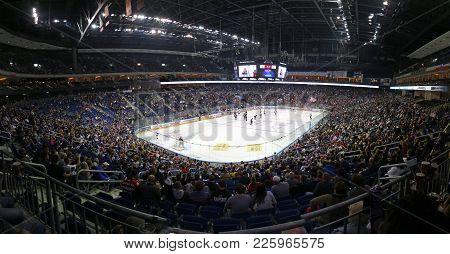 Berlin, Germany - September 22, 2017: Panoramic View Of Mercedes-benz Arena In Berlin During Deutsch
