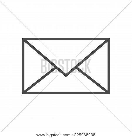 Mail Line Icon. Vector Illustration Of Outline Web Symbol.