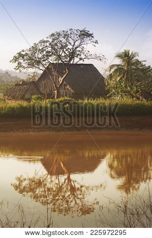 Dryer For Tobacco Near A Pond In The Vinales Valley