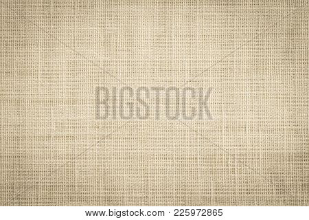 Old Jute Hessian Sackcloth Canvas Sack Cloth Woven Texture Pattern Background In Aged Yellow Beige C