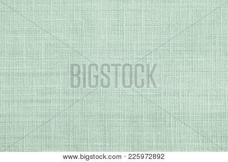 Jute Hessian Sackcloth Canvas Sack Cloth Woven Texture Pattern Background In Pastel Light Green Colo