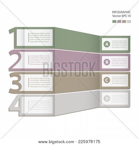 Infographics. Process Chart Module. Template For Linear Diagram, Graph Or Presentation.