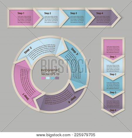 Infographics. Process Chart Module. Template For Cycling Diagram, Graph, Presentation And Chart