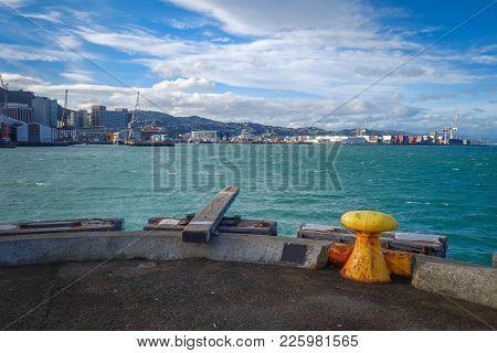 Wellington City Harbour Docks, New Zealand North Island