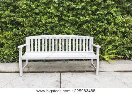Wooden Chairs In The Garden, White Chair In The Garden