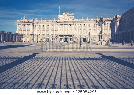 Royal Palace Of Madrid Is The Official Residence Of The Spanish Royal Family At The City Of Madrid,