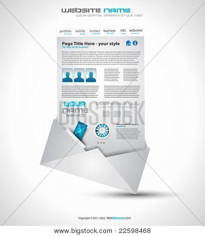 Почтовые высокие технологии веб-сайт - элегантный дизайн для бизнес-презентаций. Шаблон с большим количеством дизайн