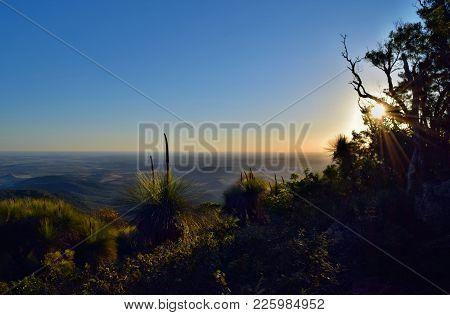 Sunset At Mt Kiangarow In Bunya National Park