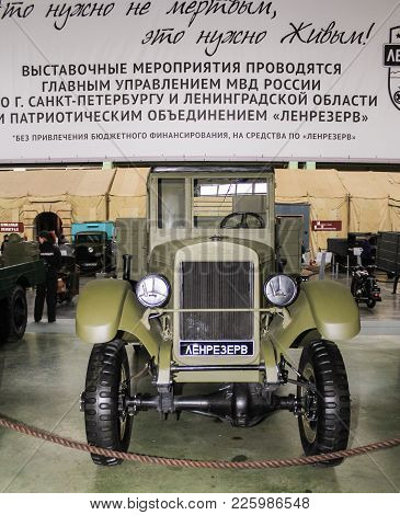 St. Petersburg, Russia - 7 May, Soviet Truck Zis-32 Of 1941 Of Release, 7 May, 2017. Automobiles And
