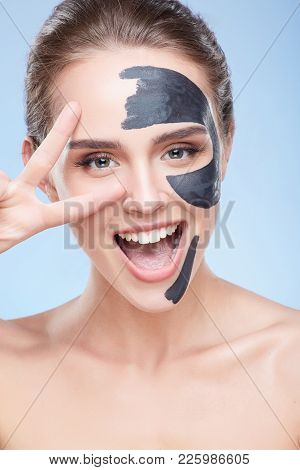 Happy Girl With Mask