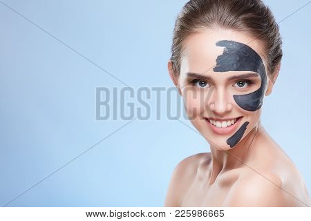 Smiling Woman With Mask