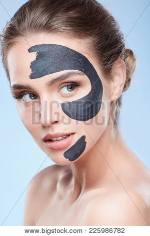 Model With Mask On Face