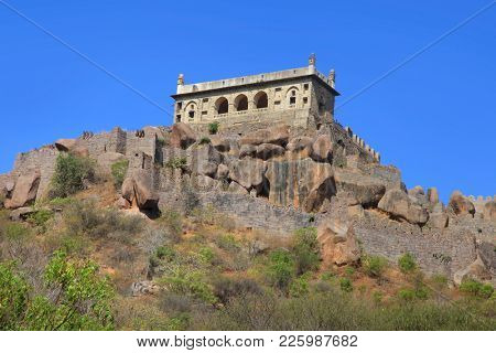 Majestic Golkonda fort in Hyderabad, India
