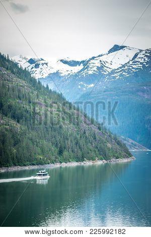 Inside Passage Mountain Views Around Ketchikan Alaska