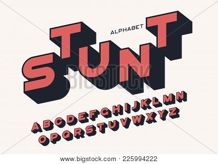 Styled Sans Serif Bold Letters With Long Shadow. Vector Alphabet, Typeface, Font, Typography. Global
