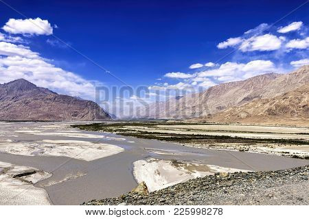 The Entrance To Nubra Valley, India. Nubra Is A Tri-armed Valley Located To The North East Of Ladakh
