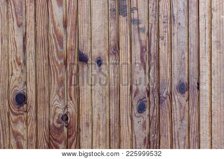 Nature Wooden Texture. Wooden Texture With Dark Knots And Cracked Background. High Resolution Old Wo