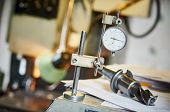 metalworking and measurement. industrial measuring head sensor poster