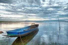 Ships on the lake bank (HDR)