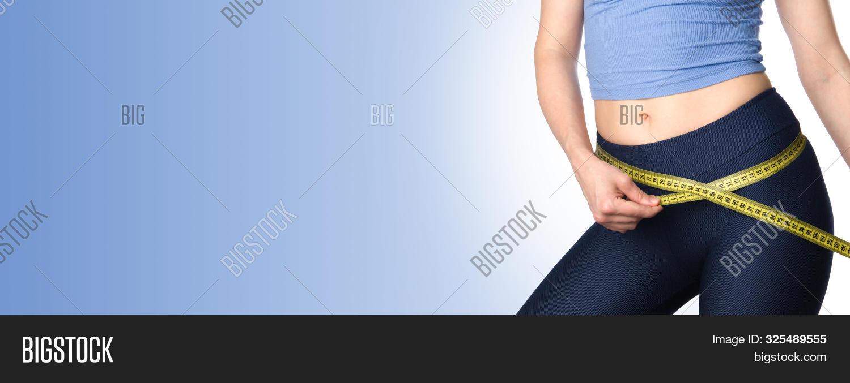 Woman Measuring Her Image Photo Free Trial Bigstock