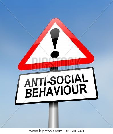Anti-social Behaviour Warning.