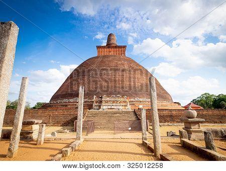 Jetavana Dagoba Is One Of The Central Landmarks In The Sacred World Heritage City Of Anuradhapura,