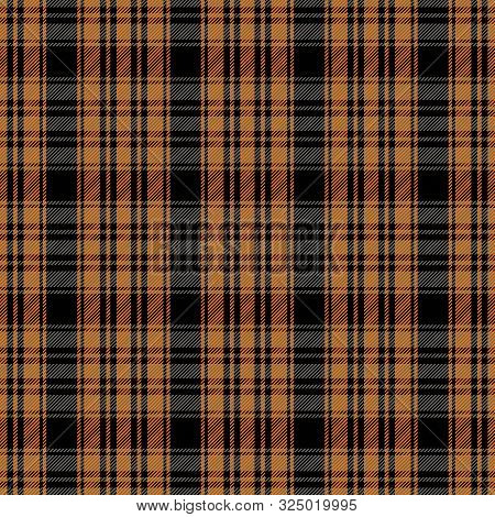 Halloween Tartan Plaid. Scottish Pattern In Black And Orange  Cage. Scottish Cage. Traditional Scott