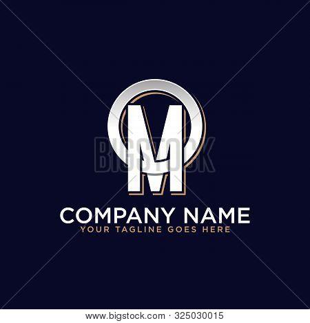 O M Initial Logo Vector, O Letter Logo Inspirations, Sport, Finance, Action Logo Idea