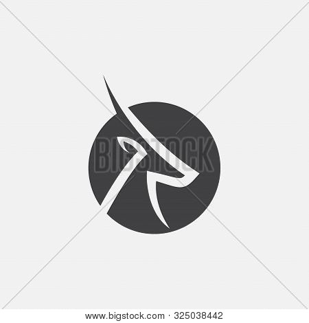 Gazelle Icon Design Vector Illustration, Gazelle Logo Illustration, Antelop Symbol Icon , Impala Ico