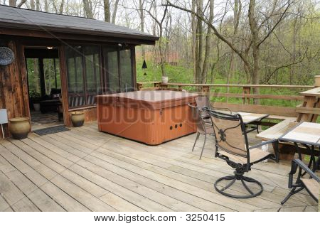 Hot Tub In The Woods