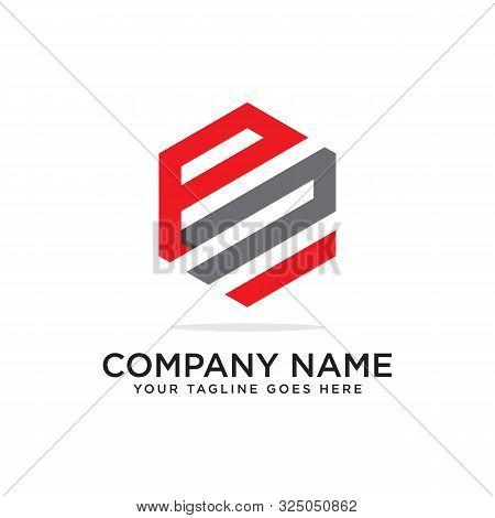 P And N Logo Design Template, Initial Logo Vector, Hexagonal Logo Inspiration