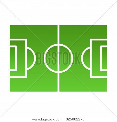 Football Field Flat Icon. Pitch Color Icons In Trendy Flat Style. Stadium Gradient Style Design, Des