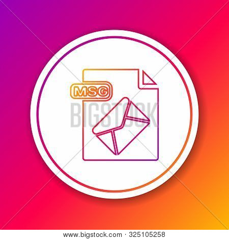 Color Line Msg File Document. Download Msg Button Icon Isolated On Color Background. Msg File Symbol