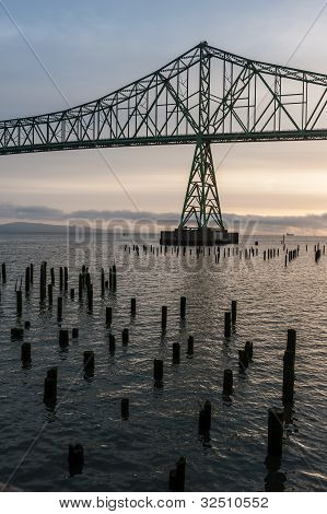 Columbia River bridge at Astoria, Oregon