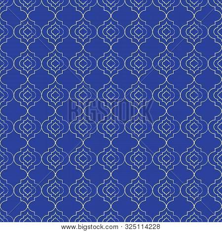 Beautiful Hand Drawn Moroccan Trellis Seamless Pattern Background.
