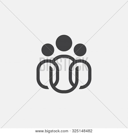 People Icon Linear, Team Leader Icon, Team Leader Icon Illustration, Team Leader Vector Icon Simple