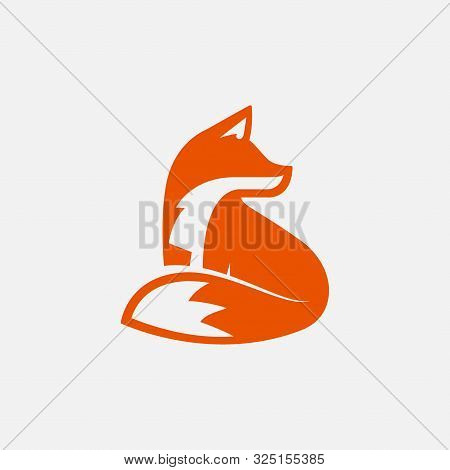 Fox Unique Logo Design Illustration, Fox Icon Logo, Fox Icon Design Illustration