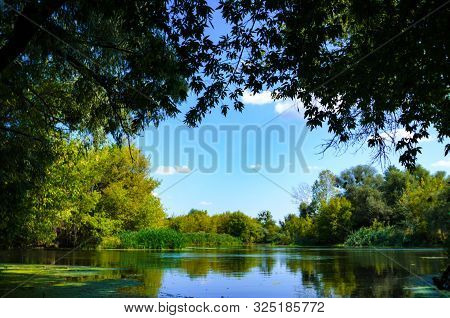 Seversky Donets River In Ukraine Clear Sky