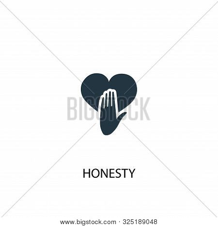 Honesty Icon. Simple Element Illustration. Honesty Concept Symbol Design. Can Be Used For Web