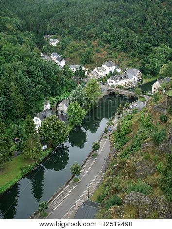 Esch-sur-sure And River Sauer