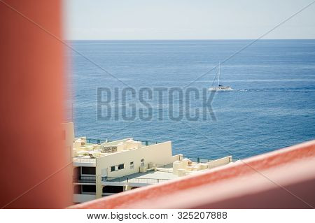 Sailing Boat On The Coast Of Madeira