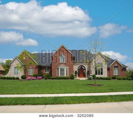 Brick And Stone Suburban Home