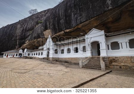 Many People Traveling At The Largest Cave In Dambulla, Sri Lanka.