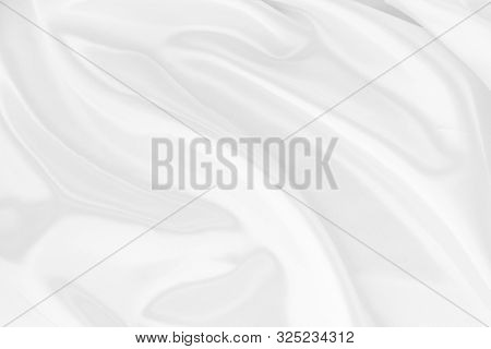 White Fabric Texture That Is White Silk Background With Beautiful Soft Blur Pattern.
