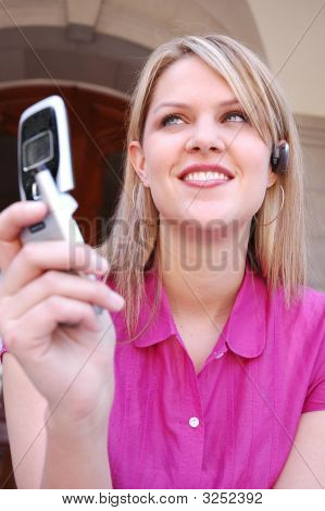 Woman with mobile