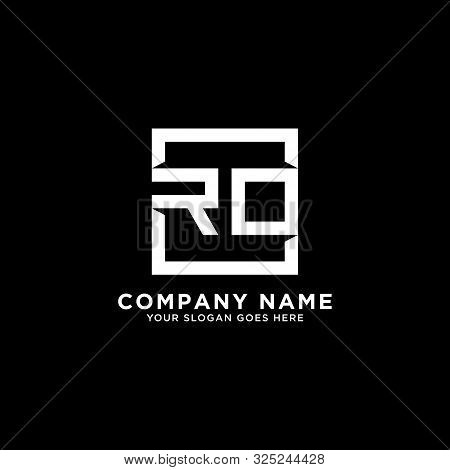 R O Initial Logo Inspirations, Square Logo Template, Clean And Clever Logo Vector