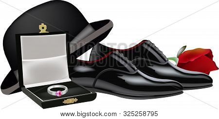 Bowler Hat, Reception Shoes And Pink Bowler Hat, Reception Shoes And Pink